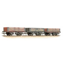 ** Bachmann 37-097 x 2 Coal Trader' Pack 5 Plank Wagons - Weathered