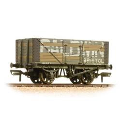 ** Bachmann 37-114 x 4 7 Plank Fixed End Wagon Baldwin Weathered