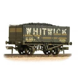 ** Bachmann 37-092 x 4 7 Plank End Door Wagon Whitwick Weathered - with Wagon Load