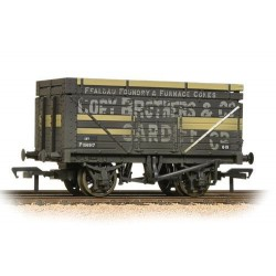 ** Bachmann 37-185A x 4 7 Plank Wagon with Coke Rails (BR) Cory Brothers & Co Weathered
