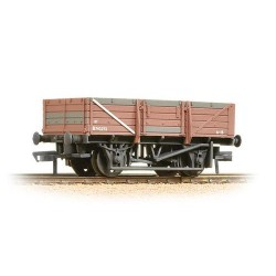 ** Bachmann 33-087 x 4 5 Plank China Clay Wagon without Hood BR Bauxite - Heavily Weathered