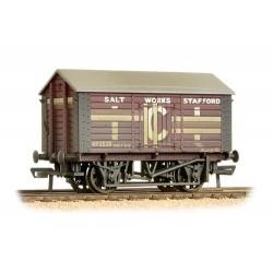 ** Bachmann 33-186 x 4 10 Ton Covered Salt Wagon 'ICI' Weathered