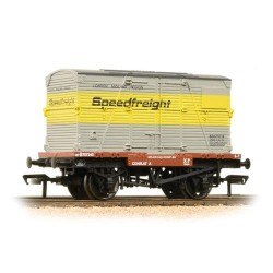 ** Bachmann 37-952 x 4 Conflat with BD Container Speedfreight Grey & Yellow