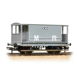 ** Bachmann 38-554 x 4 Midland 20T Brake Van Midland Railway Grey (no duckets)