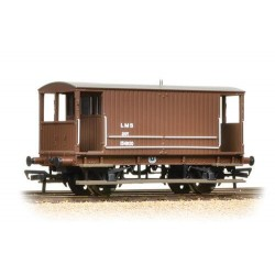 ** Bachmann 38-553A x 4 Midland 20T Brake Van LMS Bauxite (without Duckets)