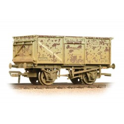 ** Bachmann 37-225H x 4 16 Ton Steel Mineral Wagon BR Grey Top Flap Doors Weathered