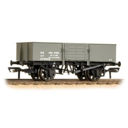 ** Bachmann 38-329A x 4 13 Ton H/Sided Steel Wagon (Smooth Sides & Wooden Doors) LNER Grey