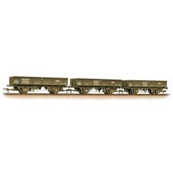 ** Bachmann 38-105 x 2 Triple Pk 34 Tonne PNA Ballast/Spoil Wagons Railtrack 5 Rib Weathered