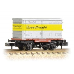 ** Graham Farish 377-346 x 2 Conflat with Vented Alloy BA Container Speedfreight