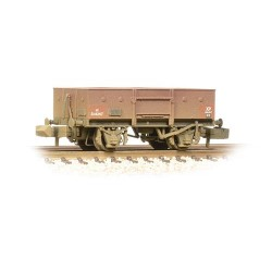 ** Graham Farish 377-955 x 2 13 Ton High Sided Steel Wagon (Chain Pockets) BR Bauxite (Early) Weathered