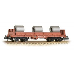 ** Graham Farish 377-903 x 2 BAA Steel Carrier Wagon with Coils BR Brown