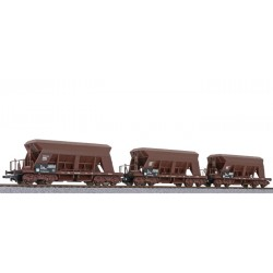 ** Liliput L230143 x 1 3-unit set Gravel Hopper Wagon, OBB