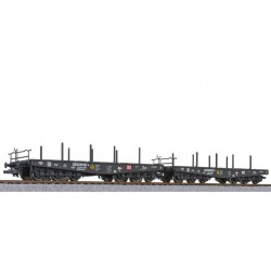 ** Liliput 230146 x 1 2-unit set, flat wagon, DB AG