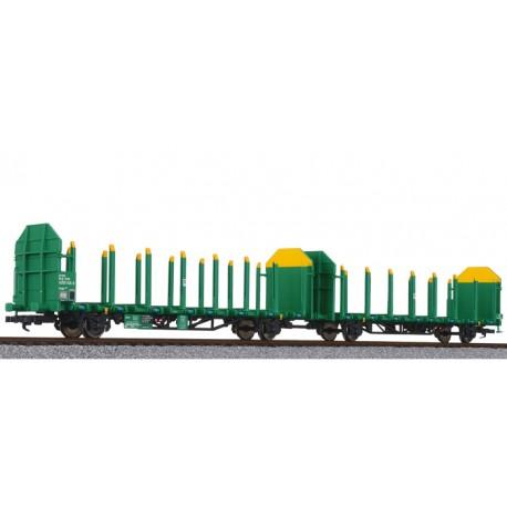 ** Liliput  L235244 x 1Timber Carrier Wagon, VTG, grun-gelb