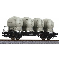 ** Liliput L235130 x 1 Flat Wagon with Four Containers LBs584 DB Ep.IV