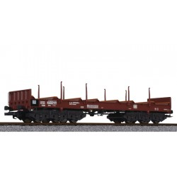 ** Liliput L235763 x 1 Steel Transport Wagon with Stanchions DB Ep.IV/V