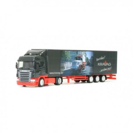 "** Herpa 283861 Scania Jumbo Curtain Canvas Semitrailer ""Kravag"""