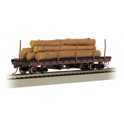 ** Bachmann 18332 x 1 ACF 40' Log Car with Logs 1906-1935 Version