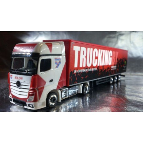 "**   Herpa 306003 Mercedes-Benz Actros Gigaspace Box Semitrailer ""Brian Yeardley"" (GB)"