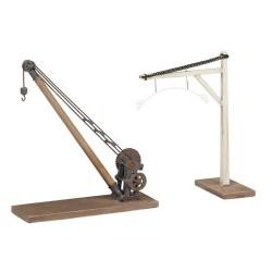 ** Bachmann 44-0036  x 1 Scenecraft Yard Crane and Loading Gauge (Pre-Built)