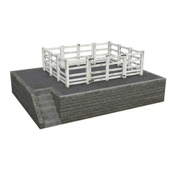 ** Bachmann 44-0081  x 1 Scenecraft Stone Cattle Dock (Pre-Built)