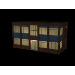 ** Bachmann 44-0085  x 1 Scenecraft Office Building w/Lights (Pre-Built)