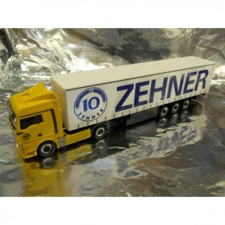 """** Herpa 901833  MAN TGX XLX Curtain Canvas Semitrailer """"Zehner"""""""