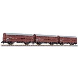 ** Liliput 260140 3-Unit Set, Livestock Wagon, Type Vlmms 63, Without Platform, DB, Ep.III