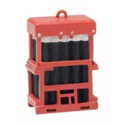 ** Bachmann 44-537 Scenecraft Caged Gas Bottles 4pcs (Pre-Built)