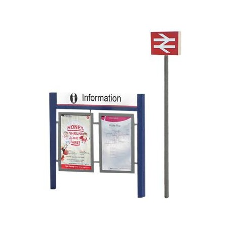 ** Bachmann 44-548 Scenecraft Station Signage Set (Pre-Built)