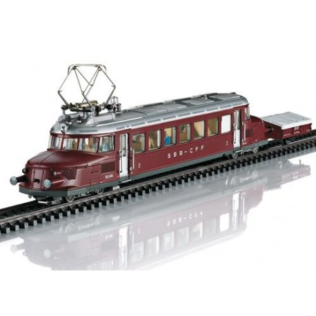 ** Marklin 37869 SBB RCe2/4 Electric Railcar & Ski Trailer III (MFX-Sound)
