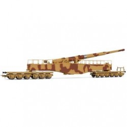 ** Rivarossi HR6452 DRB K5 Railway Gun Brown/Beige Camouflage II