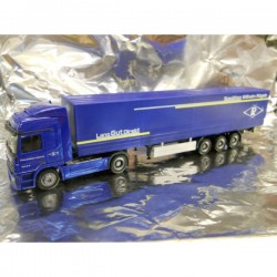 "** Herpa 282116 Mercedes Benz Actros LH Canvas Semitrailer ""Roegels"""