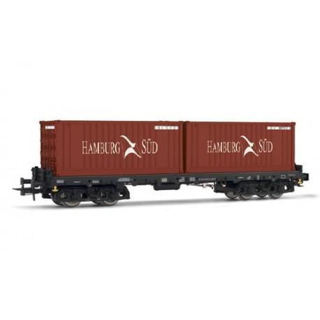 ** Rivarossi HR6405 DBAG Sgmms738 Hamburg-Sud Container Wagon V