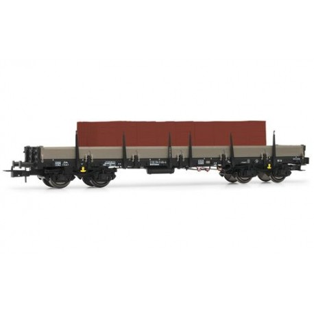 ** Rivarossi HR6406 DB Remms665 Bogie Stake Wagon w/Red Brick Load IV