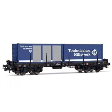 ** Rivarossi HR6407 DB Rmms663 THW Container Wagon V