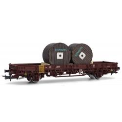 ** Rivarossi HR6412 DB Kls Flat Wagon w/Siemens Cable Load IV