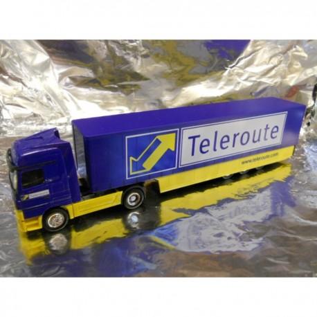 "** Herpa 270625 Mercedes Benz Actros LH '02 Safeliner Semitrailer ""Teleroute"""