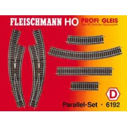 ** Fleischmann 6192 Profi Track Parallel Set D