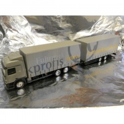 "** Herpa 282932 Mercedes Benz Actros L Jumbo Curtain Canvas Trailer ""Fuhrparkprofis"""
