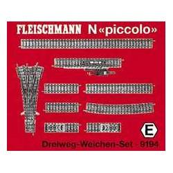 ** Fleischmann 9194 Profi Track Three Way Point Set E