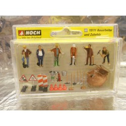 ** Noch 15111 Road Maintenance Workers (6) and Accessories Figure Set