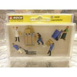 ** Noch 15038 Warehousemen (5) and Accessories Figure Set