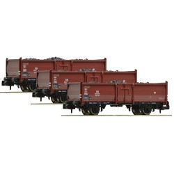 ** Fleischmann 820630 Start DB Omm52 Coal Wagon Set (3) III