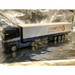 "** Herpa 277549 Mercedes Benz Actros LH Curtain Canvas Semitrailer ""Beck"""