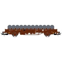 ** Jouef HJ6172 SNCF Ks Flat Wagon w/Wheelset Load IV