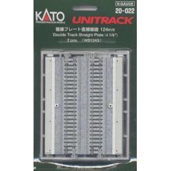 ** Kato 20-022 Unitrack (WS124G) Dual Straight Track 124mm 2pcs