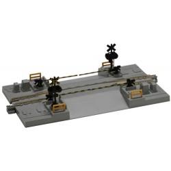 ** Kato 20-027 Unitrack (S124C) Straight Level Crossing Track 124mm