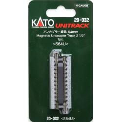 ** Kato 20-032 Unitrack (S64U) Straight Uncoupler Track 64mm