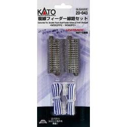 ** Kato 20-043 Unitrack (WS62FPC-WS62PC) CS Dual Straight Feeder Track 62mm